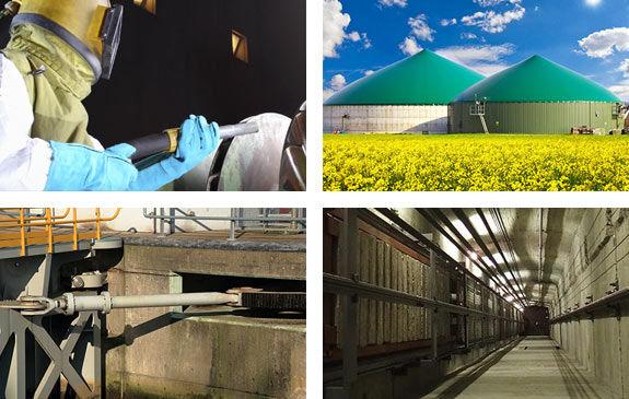 Weitere Dienstleistungen: Sandstrahlen, Biogasanlage, Stahlwasserbau...