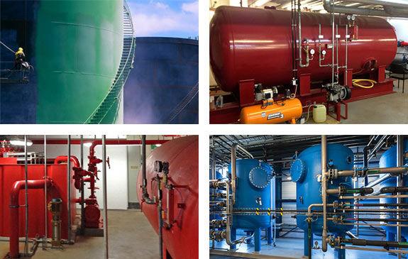 Tankbeschichtung und Behälterbeschichtung