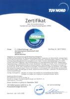 Fachbetrieb Zertifikat TÜV Nord